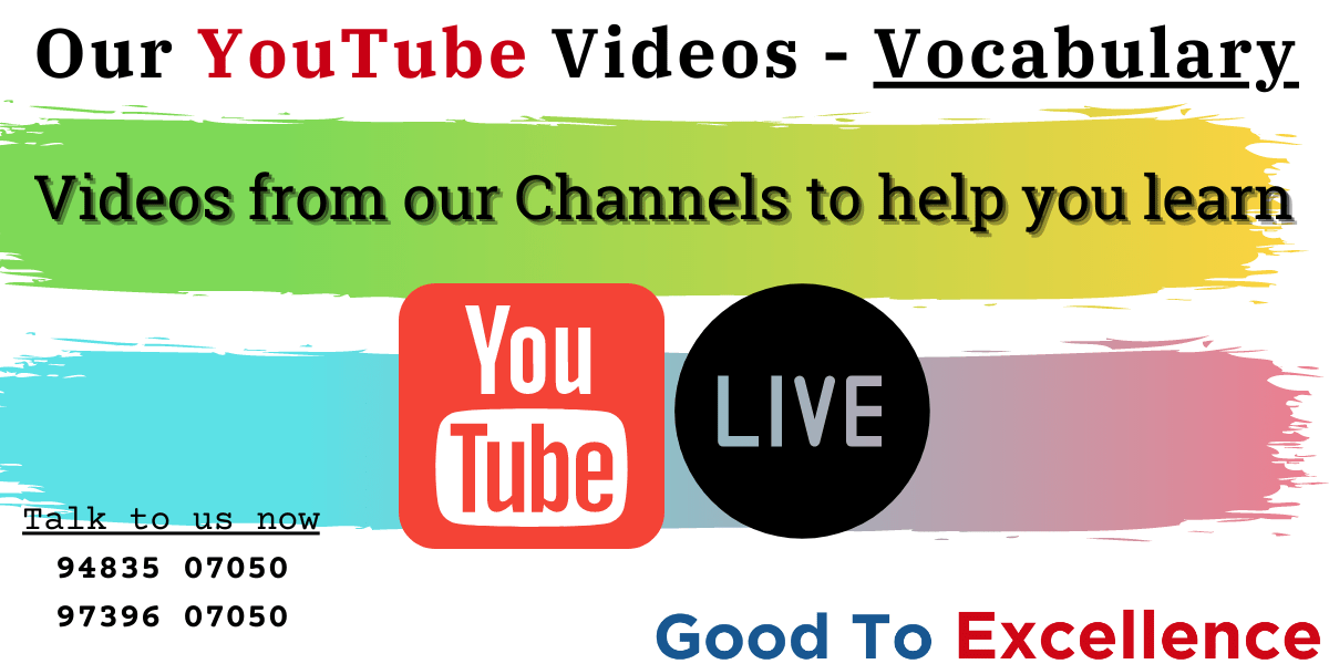 Read more about the article Learn Vocabulary from our videos