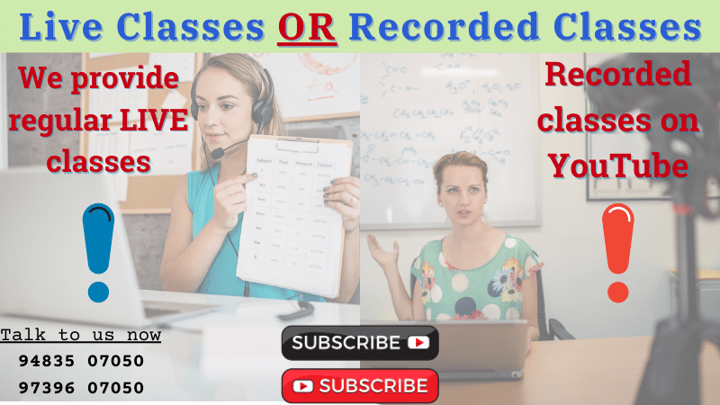 Online: Live classes or Recorded classes?